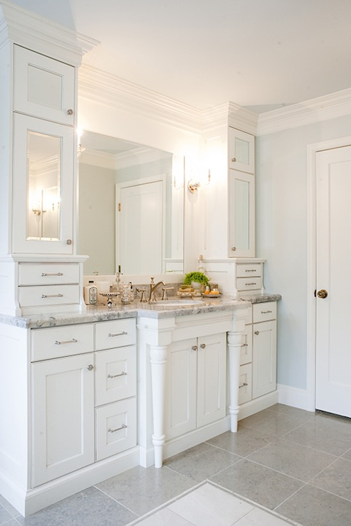 Mirrored Cabinet Doors Transitional Bathroom Harman Wilde