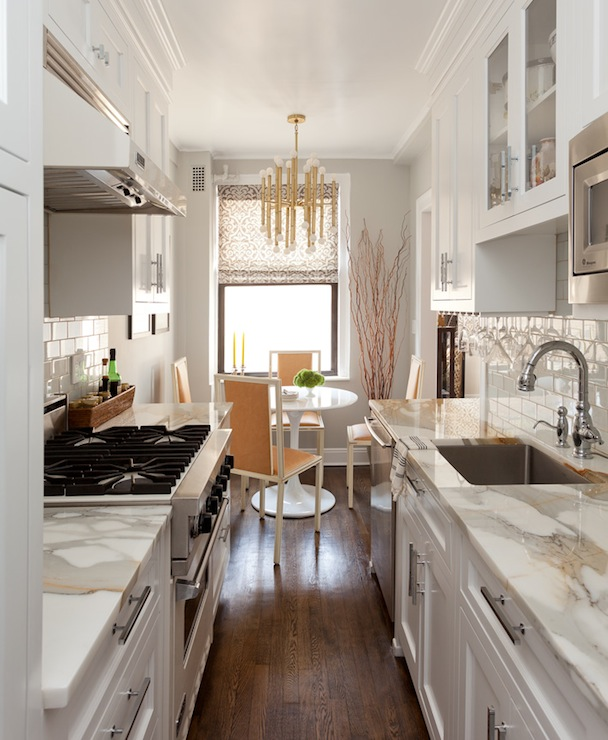 Galley kitchen ideas contemporary kitchen emily for Converting galley kitchen to open kitchen