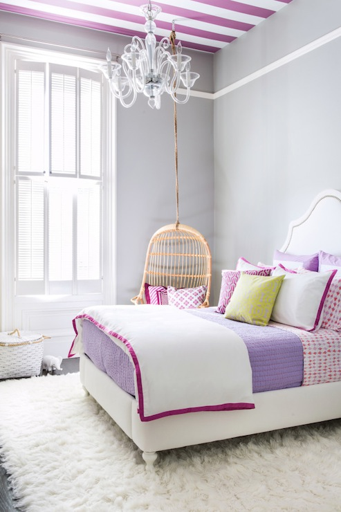 purple and gray bedroom contemporary girl 39 s room serena and lily shale project nursery. Black Bedroom Furniture Sets. Home Design Ideas