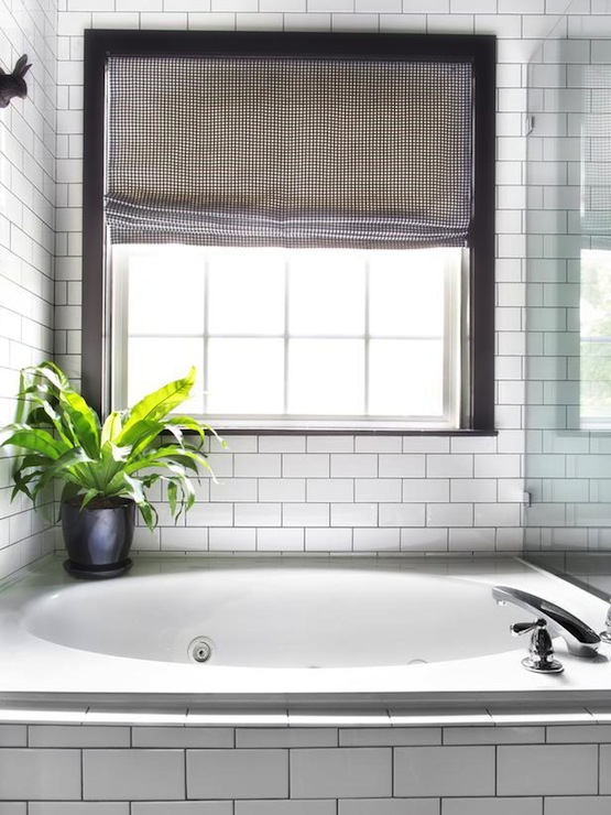 Subway Tile with Black Grout - Contemporary - bathroom - HGTV