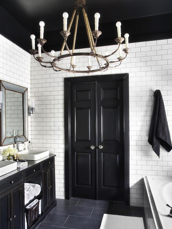 Black Bi Fold Doors Contemporary Bathroom Hgtv