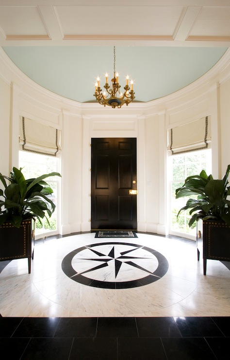 Foyer Marble Tile Designs : Round foyer transitional entrance margaux
