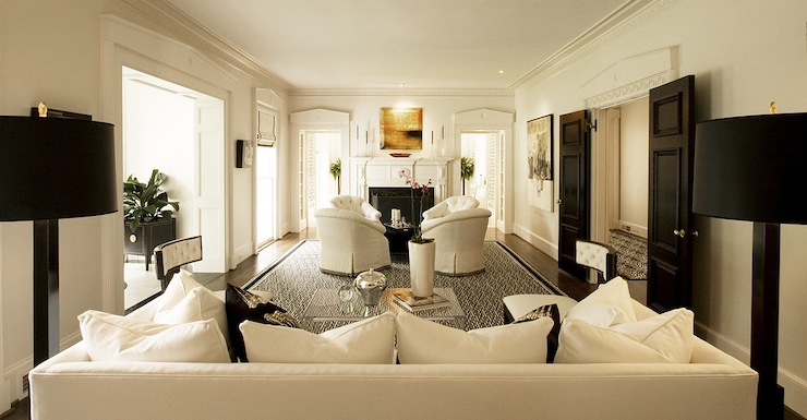 Long Living Room Ideas - Transitional - living room - Margaux ...