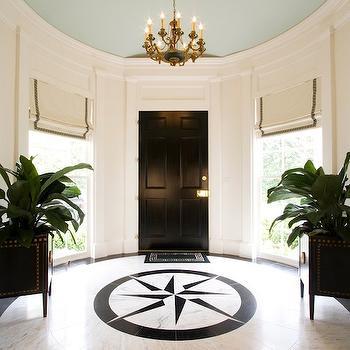 Round Foyer, Transitional, entrance/foyer, Margaux Interiors Limited