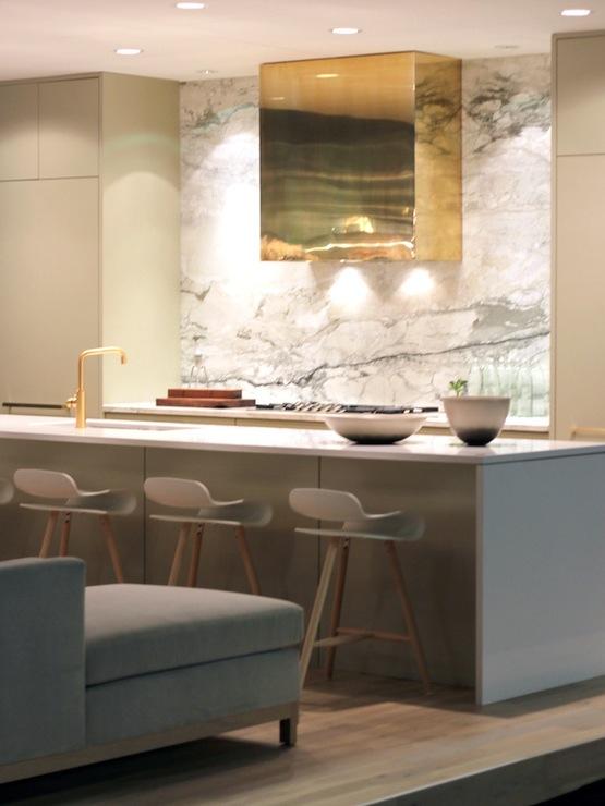 Gold Kitchen Hood Contemporary kitchen Kelly Deck Design