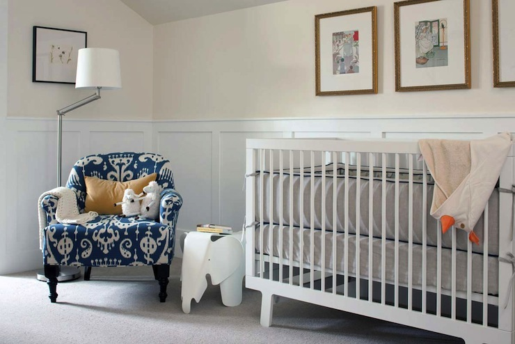 Nursery Wainscoting Contemporary Nursery Kelly Deck