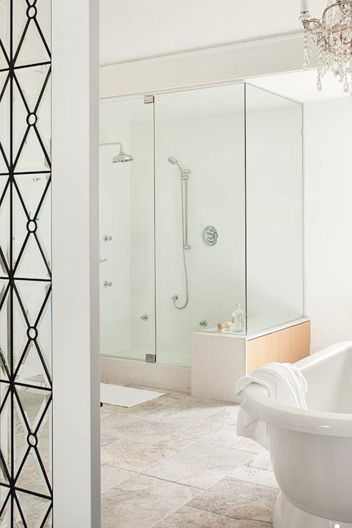 Bathroom partition contemporary bathroom kelly deck - Bathroom glass partition designs ...