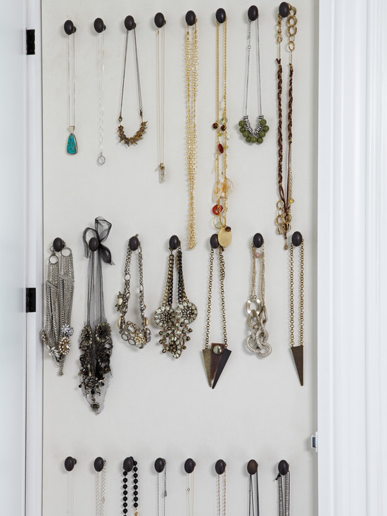 Hooks For Necklaces Transitional Closet La Closet Design