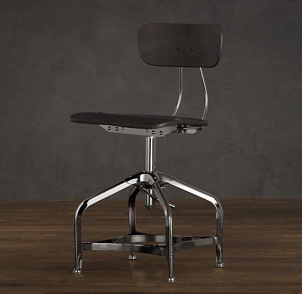 vintage toledo dining chair chrome i restoration hardware
