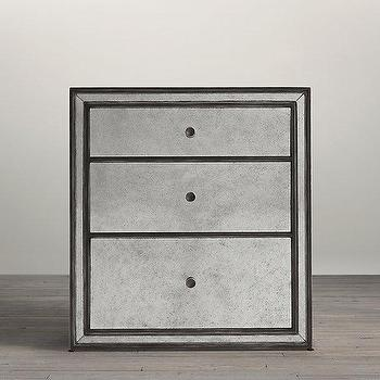 Strand Mirrored Closed Nightstand I Restoration Hardware