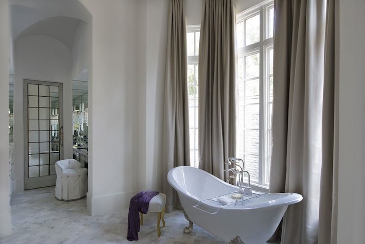 Bathroom With High Ceiling Transitional