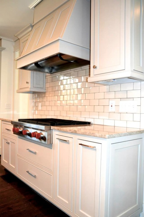 Glazed Subway Tiles Contemporary Kitchen Benjamin Moore Revere