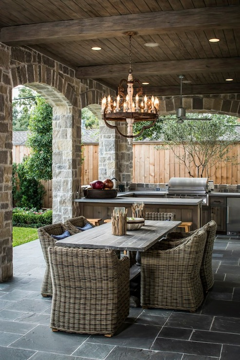 rustic covered patio design ideas