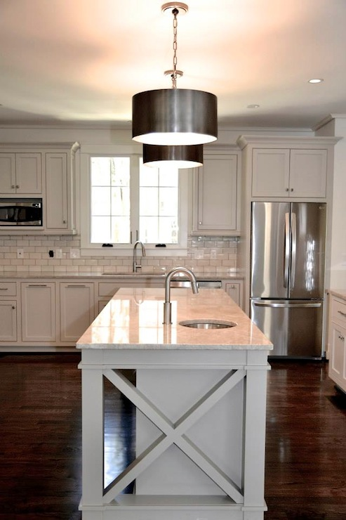 Contemporary  kitchen  Benjamin Moore Rockport Gray  CS Interiors