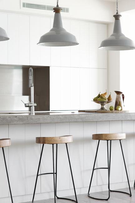 Grey Industrial Pendants Modern Kitchen Justine Hugh