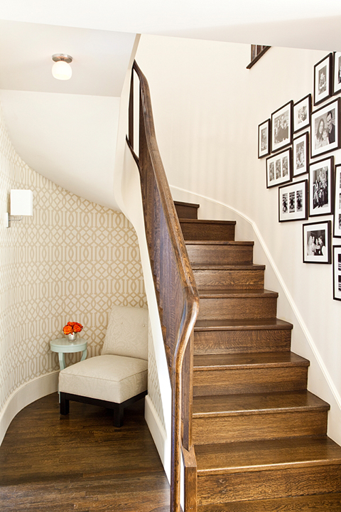 Under The Stairs Reading Nook Transitional Entrance