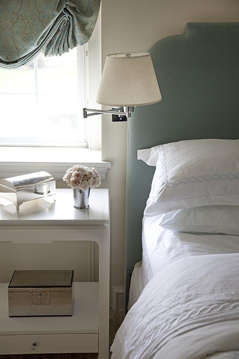 Seafoam Green Headboard Transitional bedroom Mona Ross