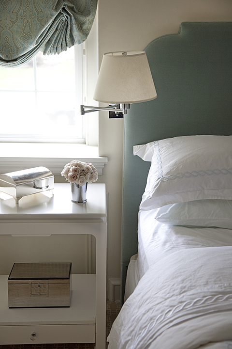Seafoam Green Headboard Transitional Bedroom Mona