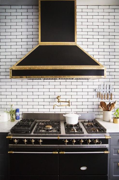 Black Range Hood ~ Black range hood contemporary kitchen domino magazine