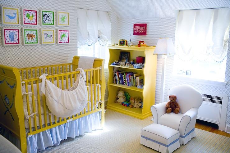 Yellow Crib Transitional Nursery Mona Ross Berman