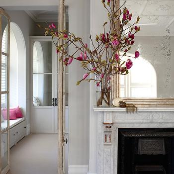 Mirror over Fireplace, Transitional, living room, Justine Hugh Jones Design