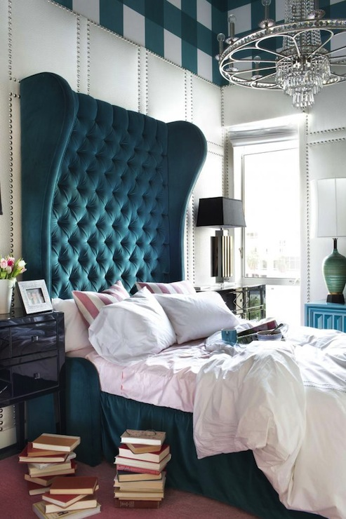Peacock Blue Headboard
