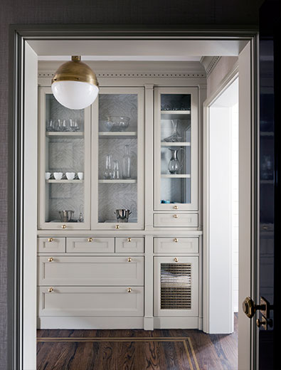 Gray Cabinets With Brass Hardware Transitional Kitchen Courtney Hill Interiors