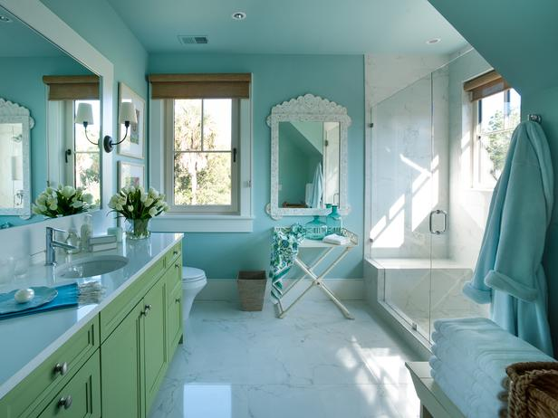 Green Vanity Cottage Bathroom Sherwin Williams