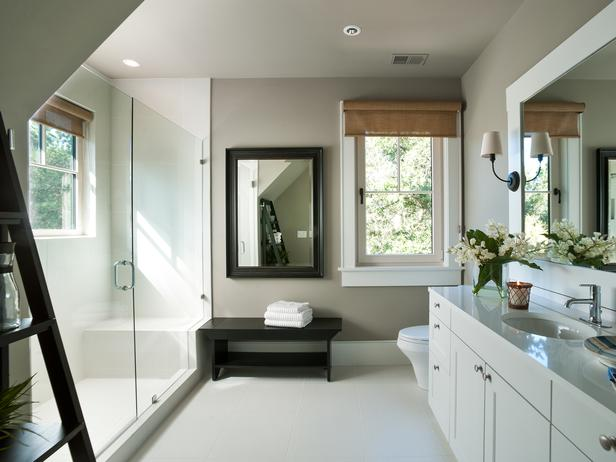 Gray Walls In Bathroom Contemporary Bathroom Sherwin