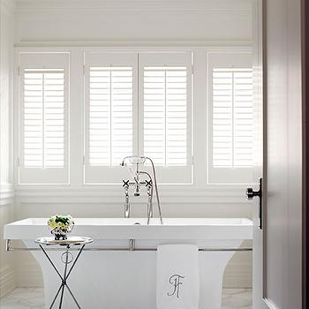 Geometric Tile Floor, Traditional, bathroom, Courtney Hill Interiors