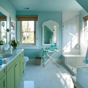 Turquoise Paint Colors Cottage Bathroom Sherwin