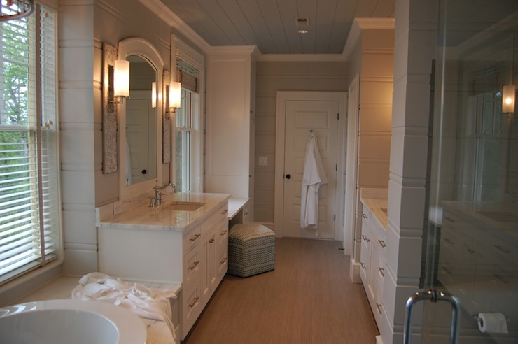 Alabama White Marble Countertops Transitional Bathroom