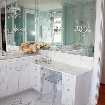 Bathroom Make Up Vanity, Transitional, bathroom, Birds of a Feather Design