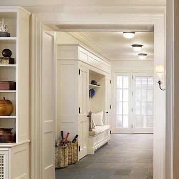 Mudroom Ideas & French Mudroom Doors Design Ideas