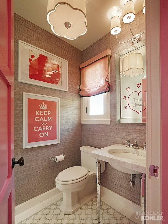 Pink And Gray Bathroom