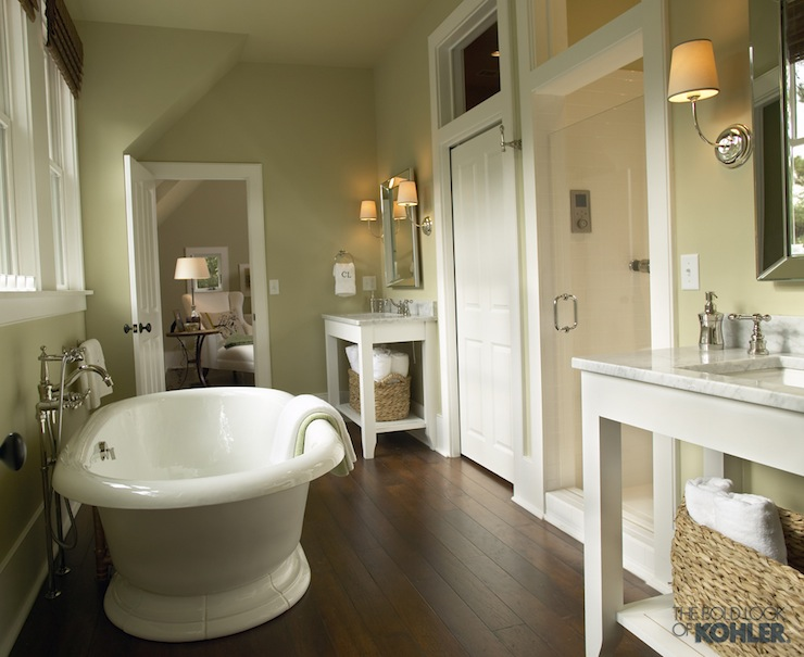 Kohler vintage freestanding bath cottage bathroom kohler for Bathroom designs tumblr