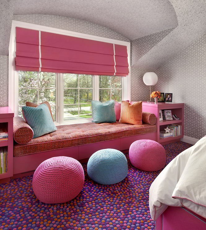 Kids Rooms Climbing Walls And Contemporary Schemes: Kids Window Seat