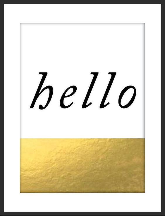Hello Gold Print