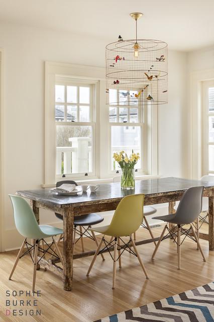 La petite voliere pendant contemporary dining room sophie burke design - Dining room pendants ...