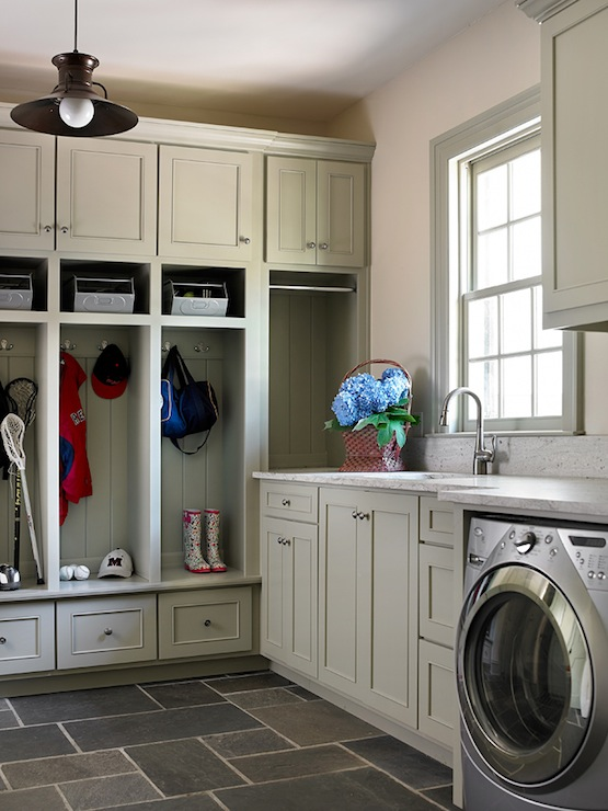 Laundry Room In Mud Contemporary BHG