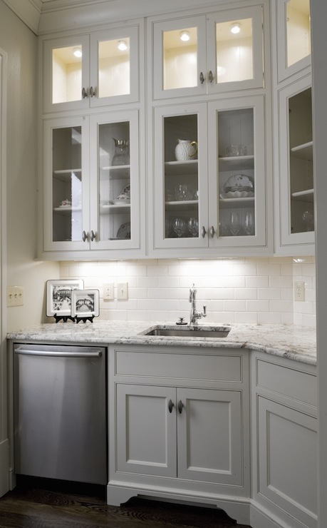 Butler pantry cabinets contemporary kitchen morgan for Butlers kitchen designs