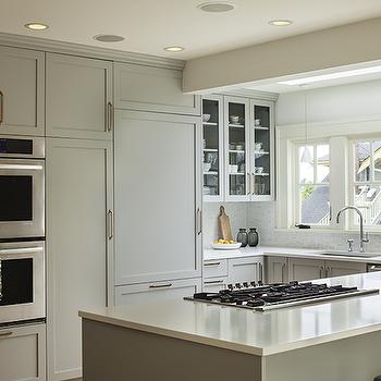 Gray Kitchen Cabinets, Transitional, kitchen, Sophie Burke Design