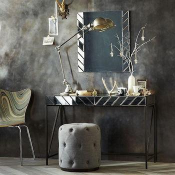 Herringbone Mirrored Vanity, west elm
