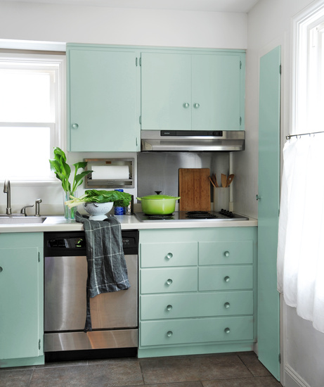 Mint Green Cabinets Vintage Kitchen Ore Studios