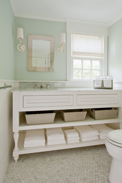 Extra Wide Bathroom Vanity Design Ideas - Bathroom vanities with shelves