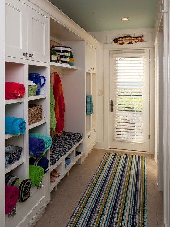 Long Mudrooms Cottage Laundry Room Francesca Owings Interior