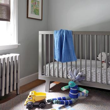 Grey Crib -Contemporary, nursery, Ore Studios