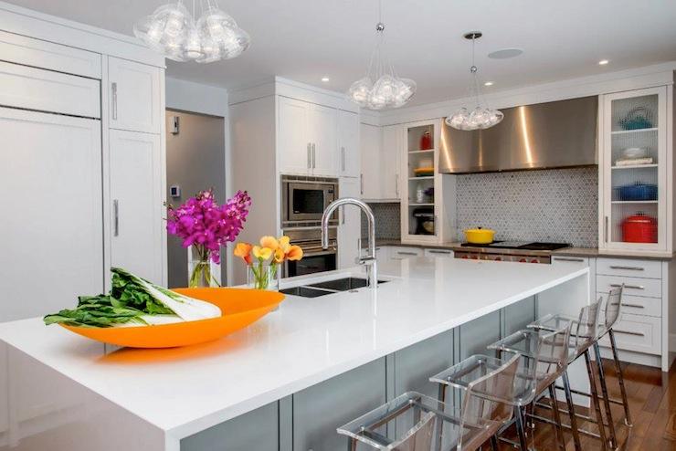 Acrylic Counter Stools Contemporary Kitchen