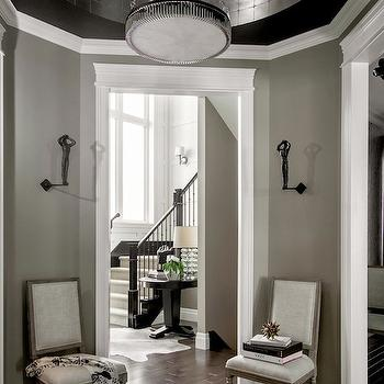 Silver Leaf Ceiling, Contemporary, entrance/foyer, Atmosphere Interior Design