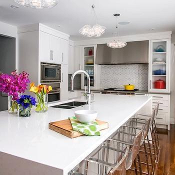 Waterfall Kitchen Island, Contemporary, kitchen, Atmosphere Interior Design